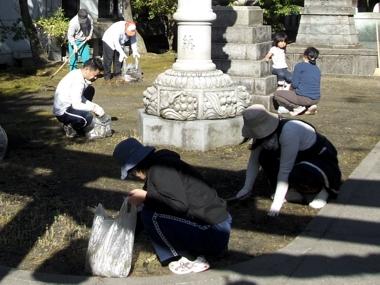 神社清掃1
